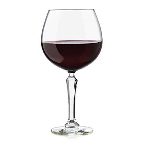 Libbey 4 Piece Capone Red Wine Glasses Set, (Libbey Red Wine Glass)