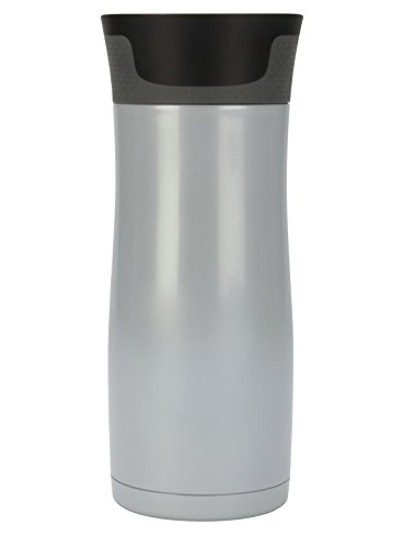 Contigo AUTOSEAL West Loop Vacuum Insulated Stainless Steel Travel Mug with Easy-Clean Lid, 16oz, Polar White