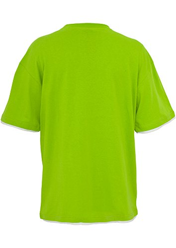 U Classics Limegreen shirt Uomo Maniche Collo A white Urban Corte T xXAdq1AB