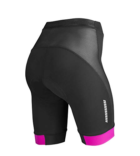 Women's Elite Cycling Shorts - Made in The USA (3XL, Pink)