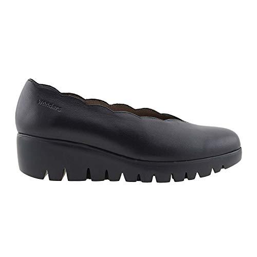 Cuir Wonders Noir C En 33130 Chaussures Compensées qn7zvS