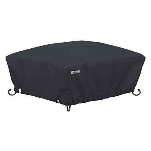 Classic Accessories 55-556-010401-00 Square Fire Pit Cover, 36, Black