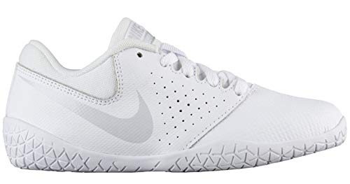 Nike Girl's Youth Cheer Sideline IV Cheerleading Shoes (13 M US Little Kid, White/Pure Platinum/White)
