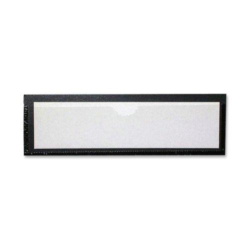 TCO29100 - Magnetic Label Holder,1-1/4x4-3/8,Inserts 1x4,10/PK