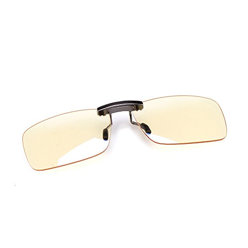 Distortionless Clip On Blue Light Blocking Glasses, Prevent Retinosis Holitown Relieve Fatigue Color Balance UV Filter Computer Gaming, Reading Bluelight Blocker, Anti Glare for Eye Strain Protection