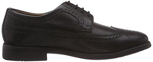 Manz Roma - zapato oxford de cuero hombre negro - Schwarz (schwarz 001)