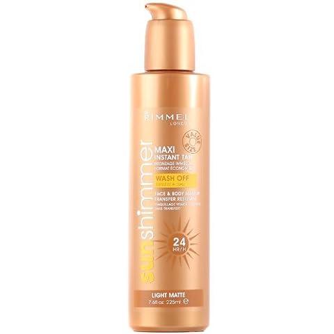 Rimmel Sun Shimmer Maxi Instant Tan, Face & Body 225ml Light by Almay