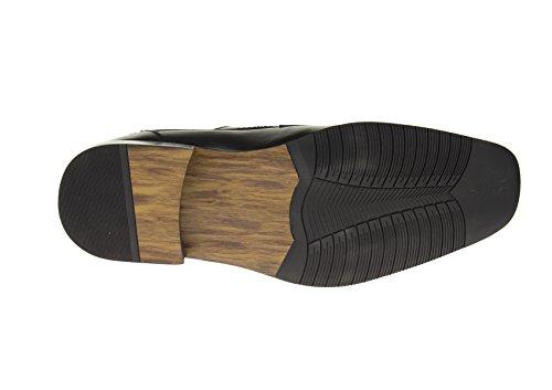 Mens Fashion Up Z6055 Black Lace Shoes Oxford Black Designer Modern Leather rrwAfq7
