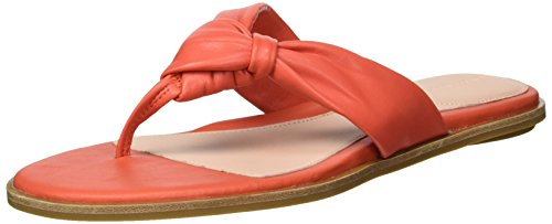 Taryn Rose Women's Karissa Sheep Nappa Flat Sandal, Poppy, 9 M M...