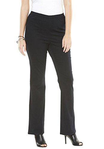 Women's Plus Size Stretch Bootcut Jeggings Black,14 W