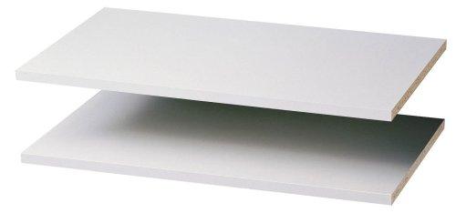 Easy Track RS1423 24-Inch Closet Shelf, White, 2-Pack
