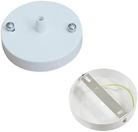 White Side fitting type UK Lighting Rosone lampadario per soffitto ciondolo Titolare e raccordi 100/mm diametro nero bianco oro rosa colori antico in ottone cromato rame anticato plastica
