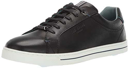 Ted Baker Men's Thawne Sneaker Black Leather 7.5 Medium US