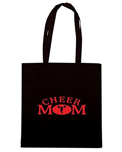 T-Shirtshock - Bolsa para la compra FUN0987 cheer mom car truck window wall sticker 6 29160 Negro