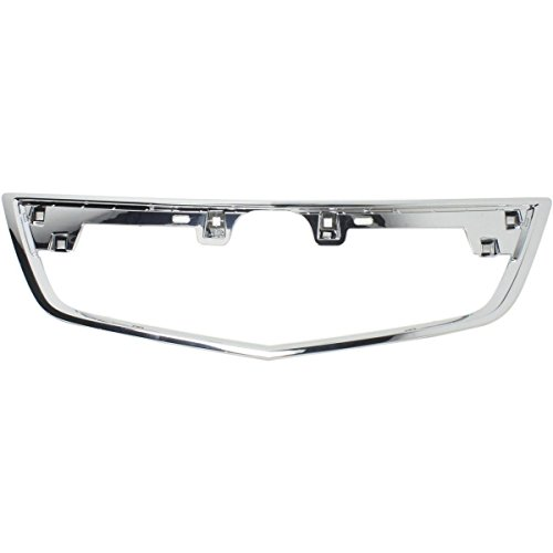 Elite7 Front Grille Trim CHROME Replacement for Acura TL 12-14 AC1202104 ()