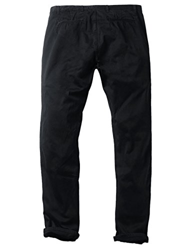 Match Mens Slim-Tapered Flat-Front Casual Pants(8116 Black,32) by Match (Image #3)
