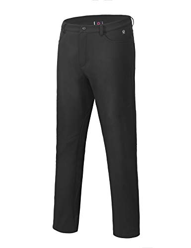 Little Donkey Andy Women's Winter Hiking Ski Pants, Softshell Pants, Fleece Lined and Water Repellant Black Size S