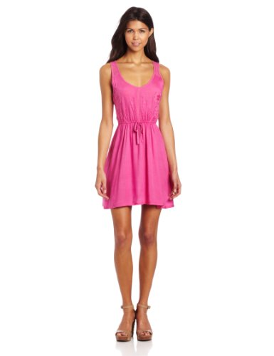 (Element Juniors Somerset Fit and Flare Dress, Raspberry, Medium)