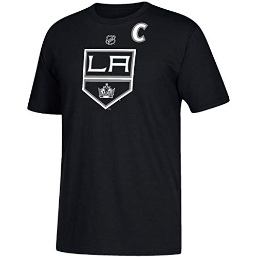Nhl T-shirt - adidas Los Angeles Kings Anze Kopitar #11 Men's Player Name & Number T-Shirt Black (Large)
