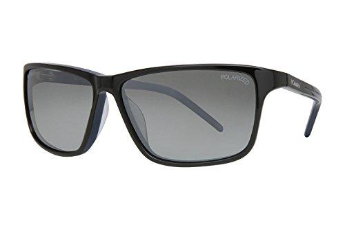 Columbia Demming Sunglasses - Frame S BLACK/BLUE, Lens Color Silver Flash - Columbia Sunglasses Frames