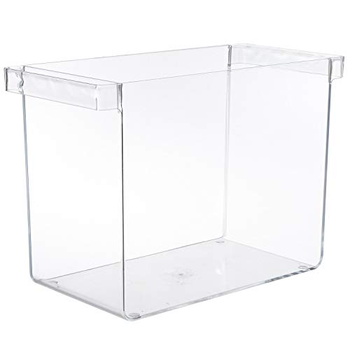 Clear Plastic Hanging File Organizer with Handles