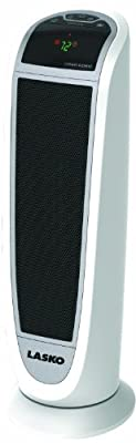 Lasko Tower Ceramic Heater with All NEW Patented Comfort System, Wide-Spread Oscillation with Digital Controls & 2 Heat Settings PLUS Automatic Temperature Control, Built-In Safety Features, Remote Control Included