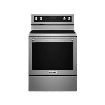 KitchenAid KFEG500ESS 6.4 Cu. Ft. Self-Cleaning Freestanding Electric Convection Range, Stainless steel