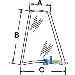 A&I Products GLASSREAR QTR. PANEL WIN PART NO: A-D126205