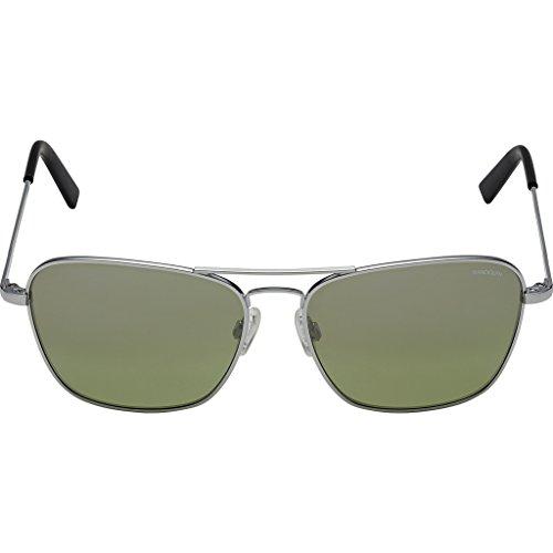 Randolph Intruder Square Sunglasses, Matte Chrome / Skull / Jade Metallic Nylon - Coating Ar On Sunglasses