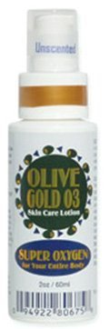 Olive Gold O3 Skin Care Lotion - Ozonated Olive Oil Super Oxygen (2 oz) (Oxygen Body Lotion)
