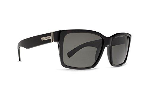 Von Zipper Elmore Black Gloss / Vintage Grey Sunglasses - Sunglasses Von Zipper Elmore