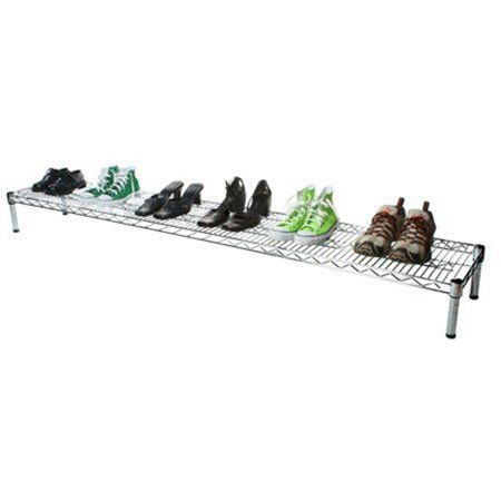 14''d x 72''w Chrome Wire Shelving with 1 Shelf by Shelving Inc