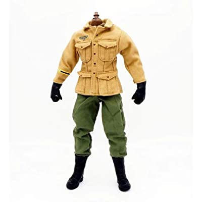 "1/6 Scale Uniforms Clothes Airborne Soldier Uniforms for 12"" Male Military Action Figure Body Cloth for Doll: Toys & Games"