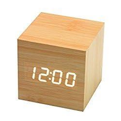 Mini Digital LED Wooden Alarm Clock
