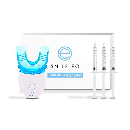 Smile EO Teeth Whitening Kit With LED Blue Light Accelerator, Whitening Gel Syringes, Teeth Whitening Tray
