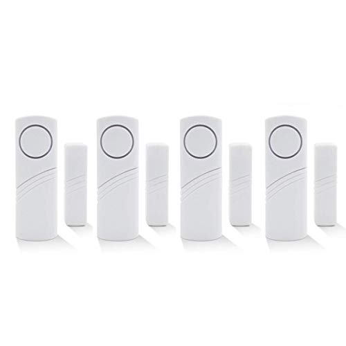 Wireless Home Security Alarm System DIY Kit - Magnetic Sensor - Guardian Protector - Window Glass Vibration Security Burglar Alarm for Homes, Cars, Sheds, Caravans, Motorhomes - Price Xes (Set of 4)