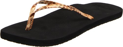 Reef Women's Uptown Girl Thong Sandal,Yellow/Gold/Snake,9 M US (Reef Uptown Girl)