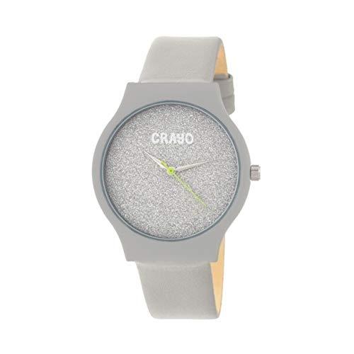 Leatherette-Band Watch (Grey) ()