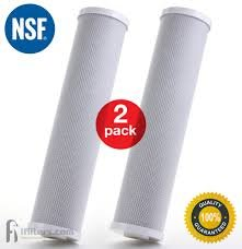 Premium Countertop Water Replacement Filter compatible to Ecosoft For Use In the Countertop Ecosoft Water Filters, Pack of 2 by CFS by CFS