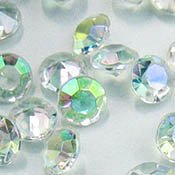 5mm 'Crystal Carat Diamond Confetti AB Coating For Table Scatter Wedding Decorations - 1000/CNT