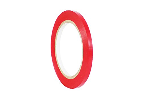 WOD CVT-536 Red Vinyl Pinstriping Dance Floor Tape, Safety Marking Floor Splicing Tape (Also Available in Multiple Sizes & Colors): 1/4 in. wide x 36 yds. (Pack of 1)