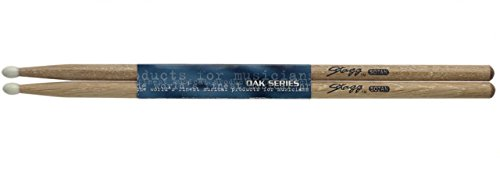 Stagg SO7AN Oak Wood 7A Grip Drumsticks with Nylon Tip