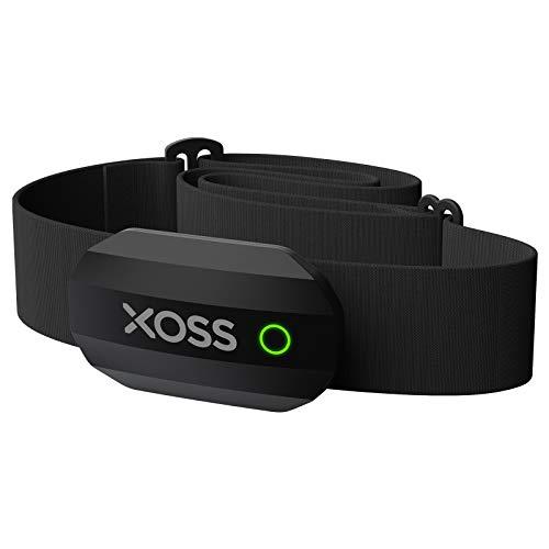 XOSS Hartslagmeter Bluetooth/ANT + voor smartphone en fietscomputer Borstband Hartslagsensor Hardlopen Sport