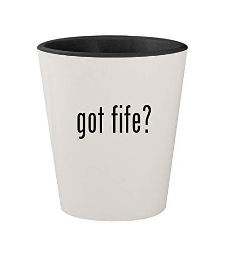 got fife? - Ceramic White Outer & Black Inner 1.5oz Shot Glass