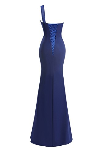 Ball Fanciest One Champagne Kleider Lang Kleider Dresses Split Shoulder Blue Meerjungfrau Damen w14wqZB