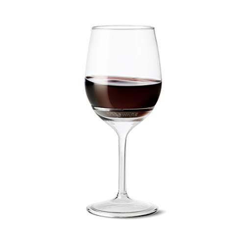 TOSSWARE VS01020047 14oz Stemmed Vino-Recyclable Wine Plastic Cup Detachable Shatterproof, and Bpa-Free Glasses, Set of 48, ()