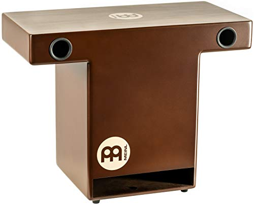 Meinl Percussion Slaptop Cajon Box Drum with Internal Snares and Forward Projecting Sound Ports-NOT Made in China-Walnut Playing Surface, 2-Year Warranty, Turbo Slap Top (TOPCAJ2WN)
