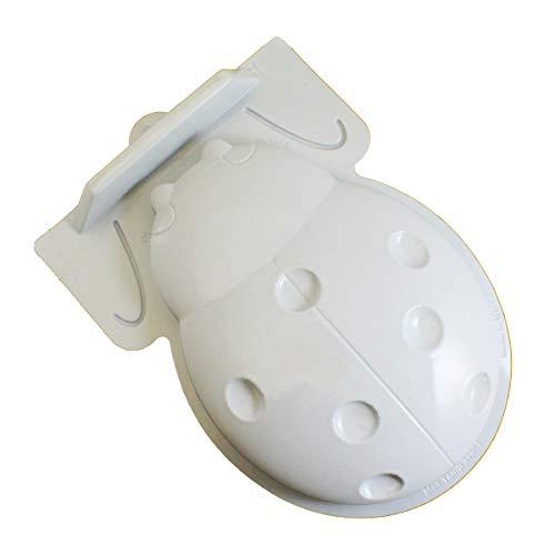 CK Products 49-8124 Plastic Ladybug Cake Pan, White