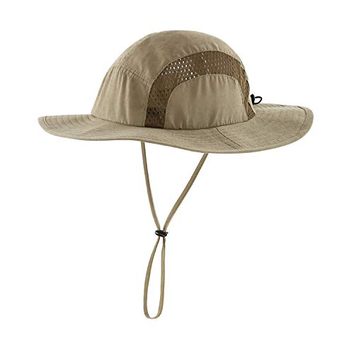Home Prefer Kids Boys Sun Hat UPF50+ Wide Brim Bucket Hat for Toddlers Adventure Army Green Boys Brim Sun Hat