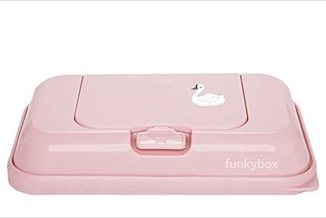 Funkybox To Go Cisne - Caja de toallitas, unisex, color rosa: Amazon.es: Bebé